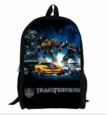 Transformers Bumblebee Backpack School Bag Bookbag Children Kids Boys Girls