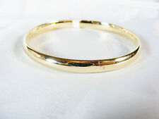 Bangle Bracelet, plain in solid 14k yellow gold