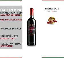 6 bottles Italian Red Wine| Vino Rosso pregiato| Mavro Salento IGP PLURIPREMIATO