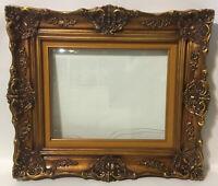 "Medium Beautiful Victorian Vintage Ornate Wooden Frame~Matted~22""x19""~Gold Gilt"