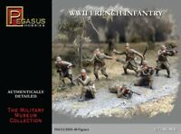 Pegasus 7306 WWII French Infantry 1940 1/72 Scale Plastic Model Figures