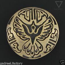 Spirit Bird Concho Bald Eagle Head Indian Western Cowboy Decor Wallet Belt Brass