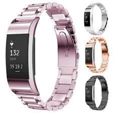 Für Fitbit Blaze/Alta HR /Charger 3 2 Edelstahl Metall Ersatz Band Uhrenarmband