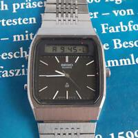 Seiko OLD QUARTZ 1983 Quartz H557-510A Black Vintage Men's wl7962