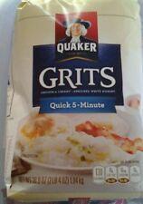 """3 BAGS OF""""QUAKER"""" QUICK GRITS..2 LB 4 OZ...CURRENT .DATE"""