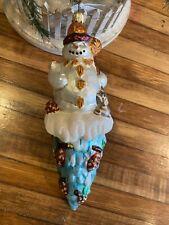Christopher Radko Carlton 'Cicle snowman ornament 1999
