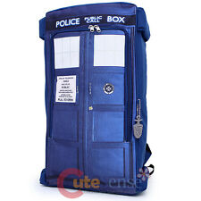 """Dr Who Blue Tardis Photo Large School Backpack Doctor Who 20""""  Costume Bag"""
