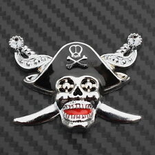 3D Metal Pirate Skull Sword Badge Decal Car Truck Van Bumper Fender Sticker New