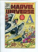 OFFICIAL HANDBOOK OF THE MARVEL UNIVERSE 1-15 COMIC SET COMPLETE DEAD 1982 VF+