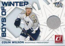 2010/11 Panini Donruss #67 Colin Wilson Boys of Winter Threads Insert