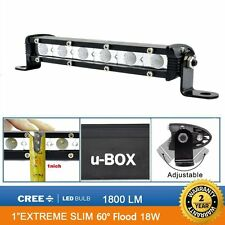 2X Slim 7inch 18W CREE LED Work Light Bar Flood Beam Offroad Lamp UTE 4WD SUV