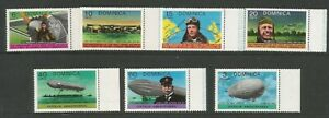 Dominica 1978 Aviation Anniversaries Full Unmounted Mint Set SG 604/10