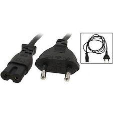7 X 2m Figure 8 C7 to Euro EU European 2 Pin AC Plug Power Cable Lead Cord (new)