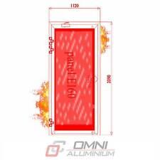 Brandschutz Aluminiumtüre, T30 = Ei30, Brandschutztür, MB78EI 1120 mm x 2090 mm