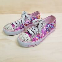 Size EUR 35 or US 3 / UK 2 TWINKLE TOES By Skechers girls light up glitter shoes