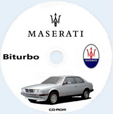 Workshop Manual,Maserati Biturbo,Manuale Officina maserati biturbo ITA+ENG.