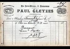 """TOULOUSE (31) ATELIER de DORURE / DOREUR MIROITIER """"Paul GLEYZES"""" en 1891"""