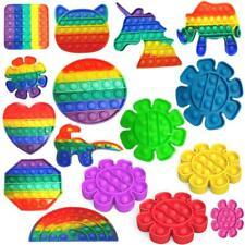 Push Pop Bubble Sensory Fidget Kids Toy It Special Needs Silent Autism Classroom