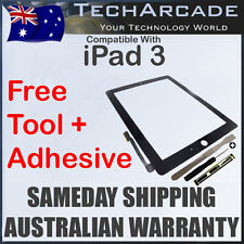 iPad 3 3rd Gen Black 3G Wifi Touch Screen Panel Glass Digitizer + Tools Adhesive
