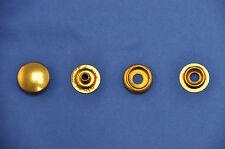 """Leather Craft Brass Snap Button Fastener Set 5/8"""" w/ Long Posts- 20, 4 Pc Sets"""
