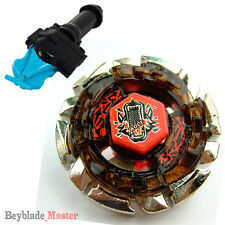 Fusion METAL Beyblade Masters BB-29 Dark Wolf+BLUE STRING LAUNCHER+GRIP