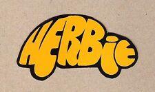 Herbie VW Bug Shaped Sticker, Volkswagen Beetle Vintage Sports Car Decal