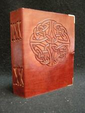 Handmade Leather Diary Sketchbook Journal - Celtic Knot design
