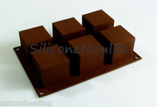 6 cell CUBE / SQUARE Mini Wedding Cake Silicone Bakeware Mould Mold Chocolate