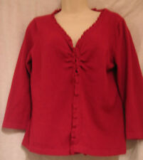 Talbots 3/4 Sleeve Red Sweater Size Large Women's