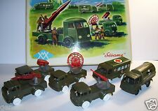 OLD COFFRET SESAME MILITARY ARMEE ANTI AERIENNE 6 MINIATURES FRICTION 1964 1/70