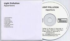 LIGHT POLLUTION Apparitions UK 9-trk promo publishing CD Domino
