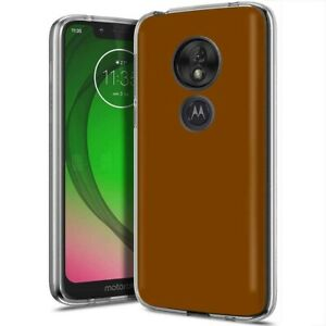 Thin Protective Gel Phone Case for Motorola G7 Play or Power,Chocolate Print