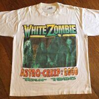 1995 White Zombie Concert  Cotton White Men S-4XL T-Shirt C499