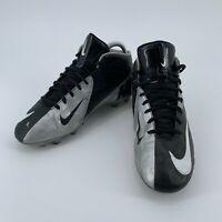 Nike Vapor Strike Black Silver Football Cleats Size Big Kids 6Y 511337-010