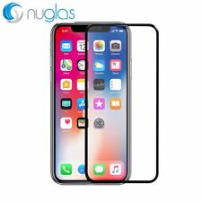 Nuglas Black EDGE to EDGE Tempered Glass Screen Protector For Apple iPhone X XS