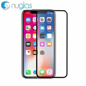 Nuglas Black EDGE to EDGE Tempered Glass Screen Protector iPhone X XS 11 PRO