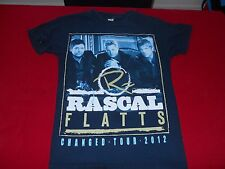 RASCAL FLATTS CHANGED TOUR 2012 BLACK T-Shirt  ADULT SMALL 100% COTTON NICE