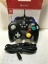 PowerA Wired Controller for Nintendo Switch GameCube Style Black 1507843-01 New