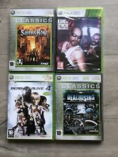 LOT 4 JEUX DEAD OR ALIVE 4 DEADRISING KANE AND LYNCH 2 SAINTS ROW XBOX 360 RARE