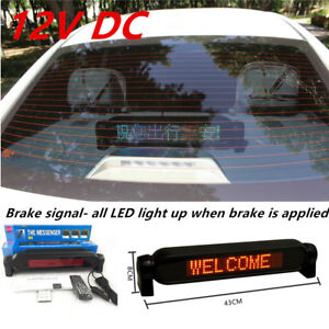 Car Dash Scrolling Style LED Panel Display Edit Message Advertising Window Sign