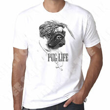 Pug Life Dog Lovers gangster humour funny mens 100% cotton tshirt