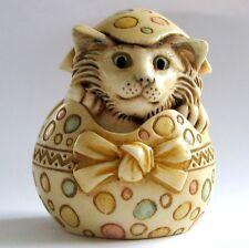 MPS Harmony Kingdom: Pot Bellys: Easter Egg Cat: April 1: Small Box Figurine NIB