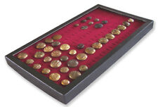 1 Glass Display Case Box Burgundy for 72 Victorian British French WW1 WW2 Button