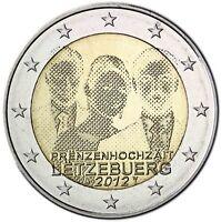 Luxemburg 2 Euro 2012 Hochzeit Guillaume und Stéphanie Gedenkmünze bankfrisch