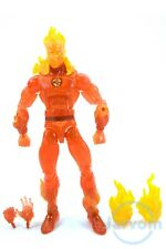 "Marvel Legends 6"" Inch Walgreens Fantastic Four 4 Human Torch Loose Complete"
