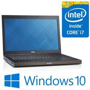 """Dell Precision M6800 Intel i7 4700MQ 16G 250G SSD Quadro K4100M 17.3"""" FHD Win 10"""