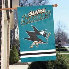 "San Jose Sharks Applique NHL Licensed 28"" x 44"" Banner / Flag - Free Shipping"