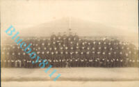 WW1 Belgian Army Group Photo with Dog Mascot real photo unposted