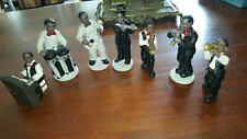 FIGURINES en BISCUIT - 7 MUSICIENS de JAZZ DIXIELAND