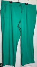 NEW DANSKIN 4X KNIT LOUNGE LEISURE GREEN PANTS STRETCH DRAWSTRING & POCKETS